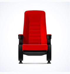 Cinema movie theater red comfortable chair vector