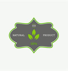 Eco icon label organic tags flat stamp natural vector