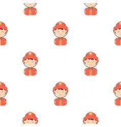 Fireman cartoon icon for web and vector