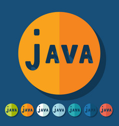 Flat design java vector