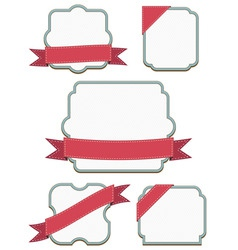 frames and ribbons vector image