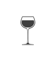 goblet of wine icon wineglass placed on white vector image