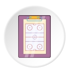 Hockey game plan icon cartoon style vector