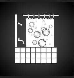 Hotel bathroom icon vector