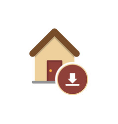 Inbox icon with home icon vector