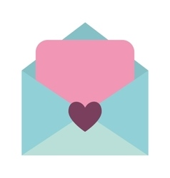 Love letter isolated icon vector