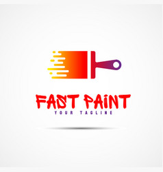 Paint template logo vector