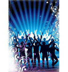 party in the city vector image