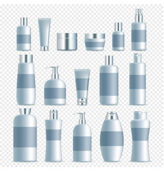 realistic cosmetic packaging set vector image