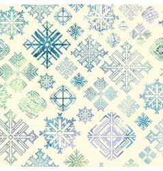 Seamless snowflake winter watercolor Christmas bac vector image vector image