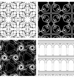 set of 4 textures vector image vector image