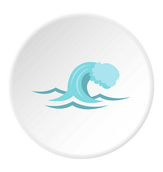 small wave icon circle vector image