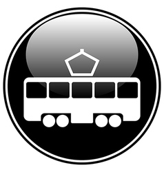 Tram button vector