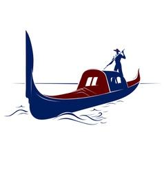 Venice boat vector