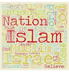 Will islam rule text background wordcloud concept vector