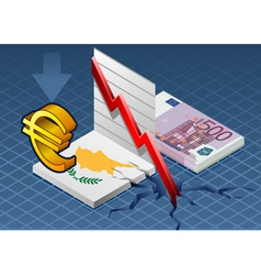 Isometric cyprus crisis vector image
