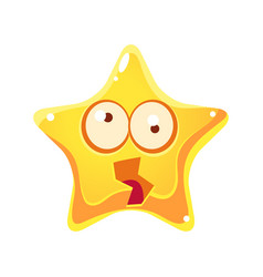 Yellow star shocked and dizzy with rotating big vector