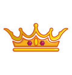 Queen crown icon cartoon style vector