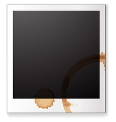 Blank photograph vector