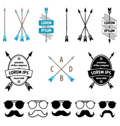 Arrows and mustache set vector