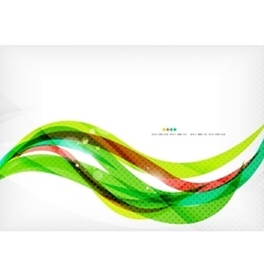 Green and red line swirls vector
