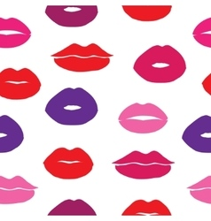 Seamless background with female lips vector