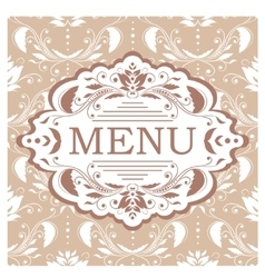 Restaurant menu design template vector