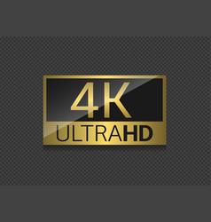 4k tv screen vector