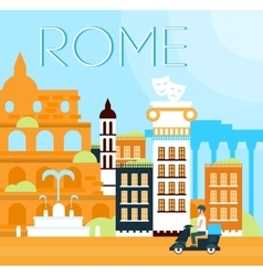 Rome traditional background vector
