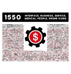 Interface Business Tools People Medical vector image