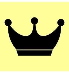 King crown sign flat style icon vector