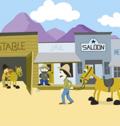 Western town vector