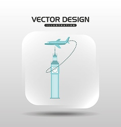 Airplane travel design vector