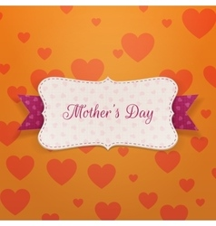 Mothers day paper greeting label vector