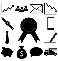 Business signs set flat icon vector