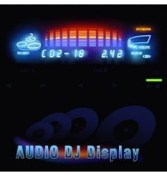 Audio dj display vector