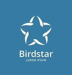 Abstract bird star logo icon design template vector