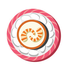 asian sushi food in cartoon style vector image vector image