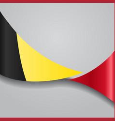 Belgian wavy flag vector