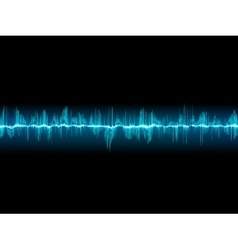 Bright sound wave on a dark blue EPS 10 vector image vector image