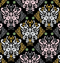 Butterfly seamless in style vector image