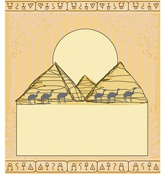 camel caravan in wild africa vector image