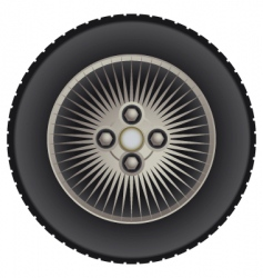 car mag wheel vector image vector image