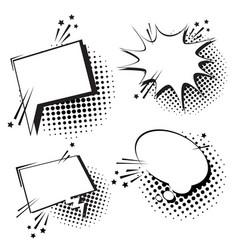 Chat bubble icon set pop art style social media vector