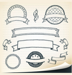 Doodle banners and design elements vector