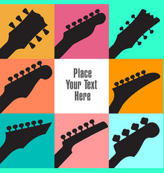 eight guitar headstocks frame this white space vector image vector image