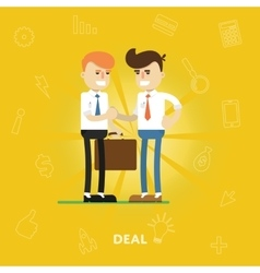 Entrepreneurs agree on a deal vector image