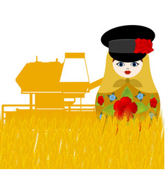 Farm equipment mechanic vector