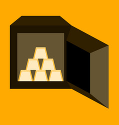 flat icon on stylish background gold bars in a vector image vector image