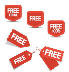 Free Tags vector image